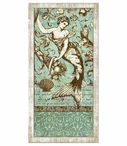 Classic Large Driftwood Mermaid Vintage Style Metal Sign