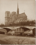 Classic Notre Dame Cathedral Riverview Wrapped Canvas Giclee Art Print
