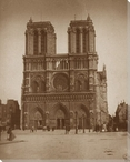 Classic Notre Dame Cathedral Wrapped Canvas Giclee Print Wall Art