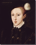 Classic Portrait of Edward VI Wrapped Canvas Giclee Print Wall Art