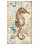 Classic Seahorse Vintage Style Metal Sign