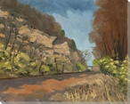 Cliff Cave Bluffs Wrapped Canvas Giclee Print Wall Art