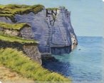 Cliffs of Etretat IV Wrapped Canvas Giclee Print Wall Art