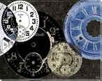 Clocks and More 1 Wrapped Canvas Giclee Print Wall Art