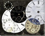 Clocks and More 2 Wrapped Canvas Giclee Print Wall Art