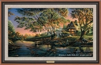 Close to Paradise Scenic Framed Canvas Giclee Art Print Wall Art