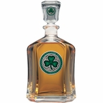 Clover Green Capitol Glass Decanter with Pewter Accents