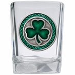 Clover Green Pewter Accent Shot Glasses, Set of 4