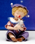 Clown Dreamer It Takes a Long Time To Become Young Porcelain Sculpture
