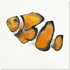 Clown Fish Wrapped Canvas Giclee Print Wall Art