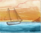 Coastal Sailboat Wrapped Canvas Giclee Print Wall Art
