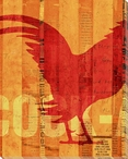 Cock-a-Doodle-Doo Rooster Bird 2 Wrapped Canvas Giclee Print