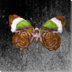 Colored Butterfly 2 Wrapped Canvas Giclee Print Wall Art