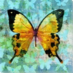 Colorful Butterflies 3 Wrapped Canvas Giclee Art Print Wall Art