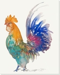 Colorful Cox Rooster Bird Wrapped Canvas Giclee Print Wall Art