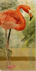 Colorful Flamingo Bird Wrapped Canvas Giclee Print Wall Art