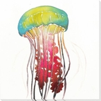 Colorful Jellyfish Wrapped Canvas Giclee Print Wall Art