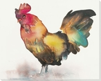 Colorful Rooster Bird Wrapped Canvas Giclee Print Wall Art