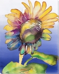 Colorful Sunflower Wrapped Canvas Giclee Print Wall Art