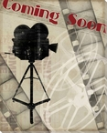 """""""Coming Soon"""" Wrapped Canvas Giclee Print Wall Art"""