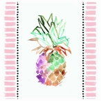 Cool & Tropical Pineapple Absorbent Beverage Coasters, Set of 12