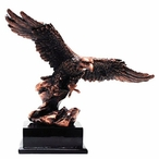 Copper Flying Eagle Bird Statue