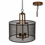 Copper Iron Winchester Metal Pendant Lamp Light