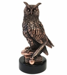 Copper Owl Bird Statue