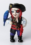 Cosplay Kids Pirate Captain with Eye Patch and Parakeet Bird Sculpture