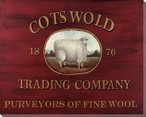 Cotswold Trading Company Sheep Wrapped Canvas Giclee Print