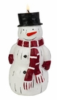 Country Snowman Christmas Candles, Set of 3