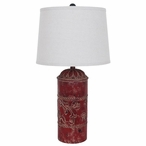 Country Store Metal Table Lamp with Linen Shade