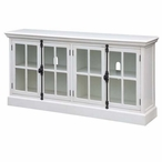 Coventry White Oak 4 Door Wood Media Console Table
