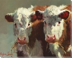 Cow Belles Wrapped Canvas Giclee Print Wall Art