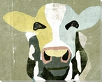 Cow Bovine Face I Wrapped Canvas Giclee Print Wall Art