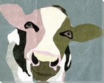 Cow Bovine Face II Wrapped Canvas Giclee Print Wall Art
