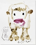 Cow Front Wrapped Canvas Giclee Print Wall Art