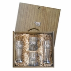 Cow Pilsner Glasses & Beer Mugs Box Set with Pewter Accents