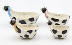 Cow Porcelain Measuring Cups, Set of 4