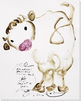 Cow Posing Wrapped Canvas Giclee Print Wall Art
