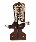 Burnished Cowboy Boot Double Metal Wall Hook