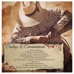 Cowboy Commandments Absorbent Beverage Coasters, Set of 8