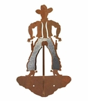 Burnished Cowboy Double Metal Wall Hook
