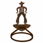 Cowboy Drawing Pistol Metal Bath Towel Ring