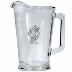 Cowboy Hat Glass Pitcher with Pewter Accent