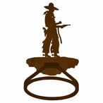 Cowboy with Pistol Metal Bath Towel Ring
