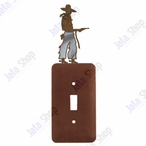 Cowboy with Pistol Single Toggle Metal Switch Plate Cover