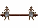 Burnished Cowgirl Metal Curtain Rod Holders