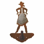 Burnished Cowgirl Metal Robe Hook