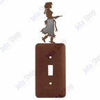 Cowgirl with Pistol Single Toggle Metal Switch Plate Cover